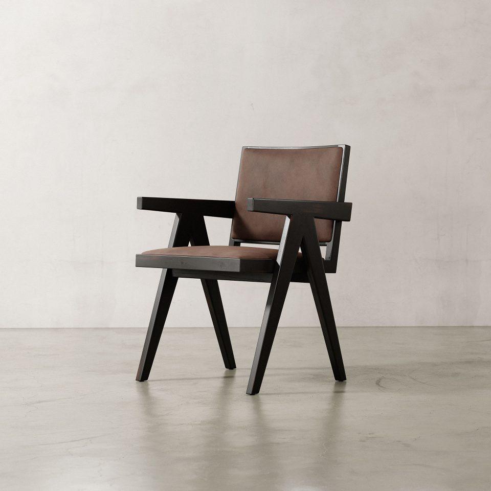 Jeanneret-Armchair-Nubuck-Brown
