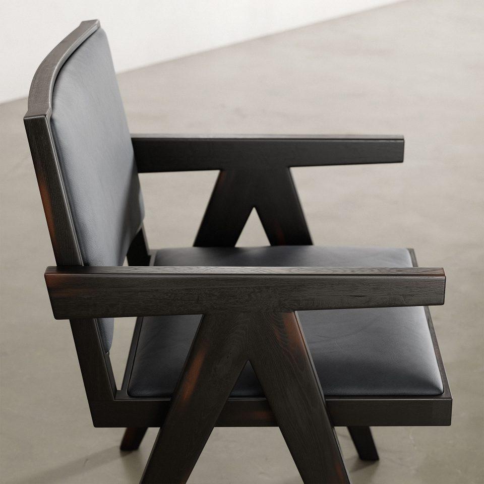 Jeanneret-Armchair-Nubuck-Black-2