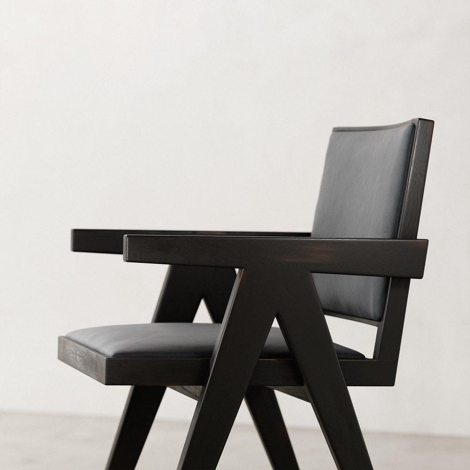 Jeanneret-Armchair-Nubuck-Black-3