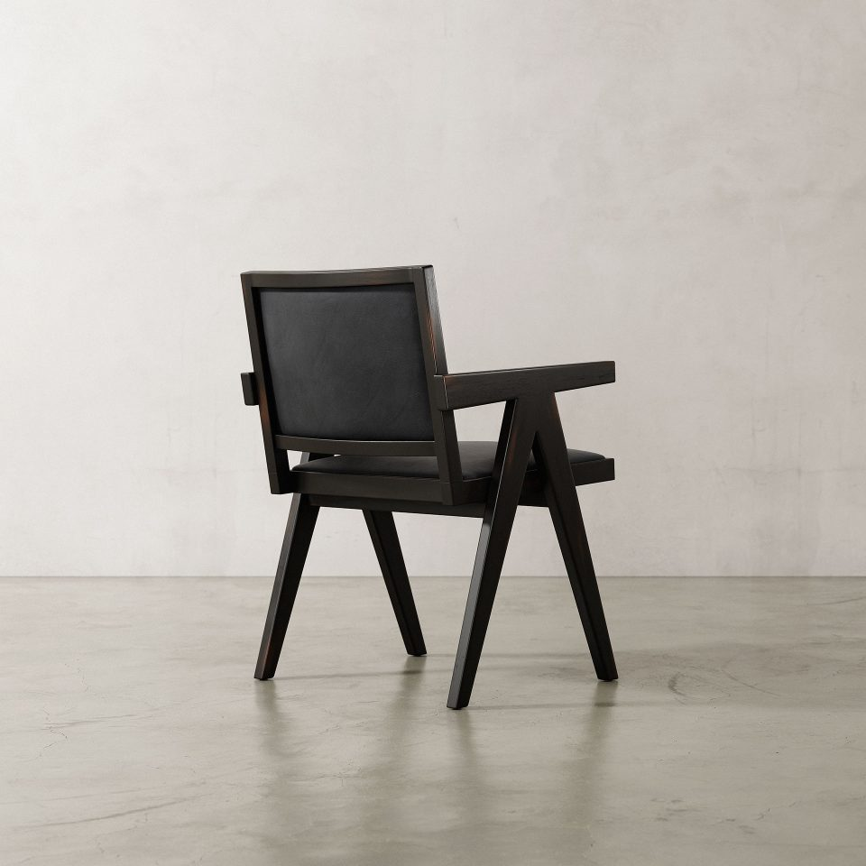 Jeanneret-Armchair-Nubuck-Black-4