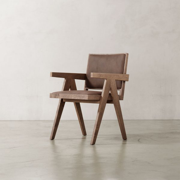 Jeanneret-Armchair-Nubuck-Brown-Weathered-Frame-2