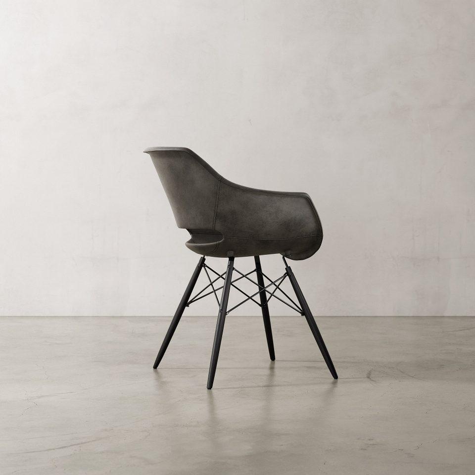 Julia-Armchair-Nubuck-Black-2
